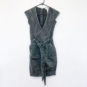 Diesel Grey V Neck Denim Style Dress